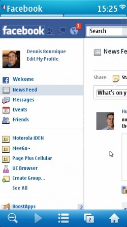 Face Book Browser For Java