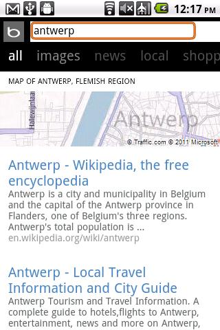 "Bing Antwerp ""All"" Results"