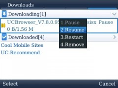 UC Browser for BlackBerry Download Manager 2