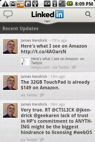 LinkedIn Recent Updates