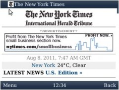 UC Browser for BlackBerry - New York Times