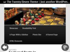 Nokia E6 - WordPress Menu