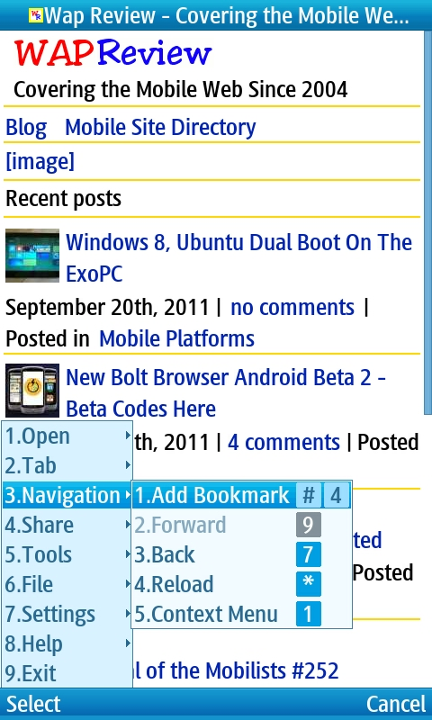 Hands On With The New UC Browser 7 9 for Symbian and Java | Wap Review
