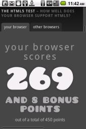 HTML5test.com result