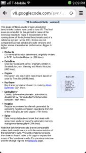 Nokia N9 Browser - V8 Benchmark result