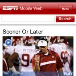Nokia N9 Browser - ESPN Mobile