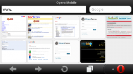 Opera Mobile 11 Speed Dial Start Page on the Nokia N9
