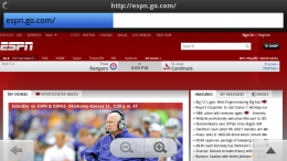 ESPN in Opera Mobile 11 on the Nokia N9