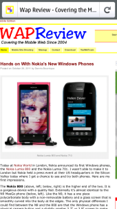 Nokia N9 Firefox Mobile - WapReview Zoomed In