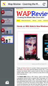 Nokia N9 Firefox Mobile - Open Tabs and New Tab Button