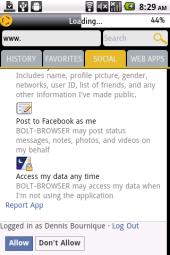Bolt Social - Facebook Permisions