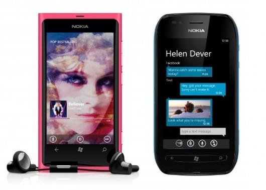Nokia Lumia 800 and Nokia 710
