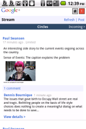 Opera Mobile 11.5 Google Plus