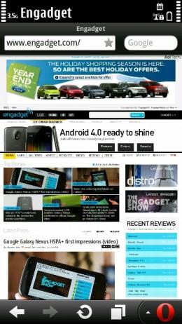 Opera Mobile 11.5 Update 1 - Engadget