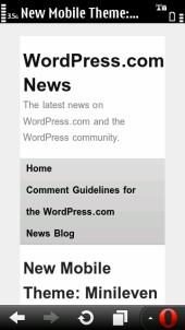 WordPress.com News - Opera Mobile 11.5.1