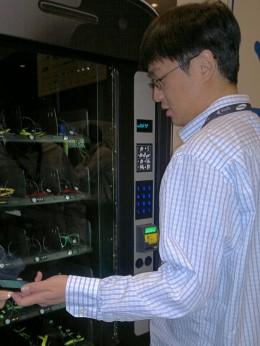Google Wallet Swag Vending Machine