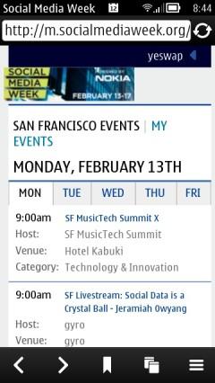 Social Media Webapp - Tabbed Event Calendar