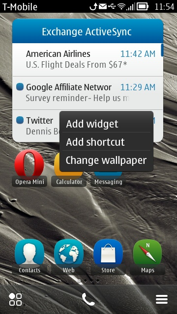 Nokia Belle - Add to Home screen
