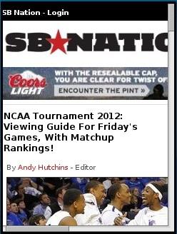SB Nation NCAA Tournament