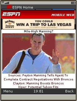UC Browser 8.2 - ESPN Mobile