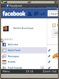 UC Browser 8.2 - Facebook PC version in Zoom Mode