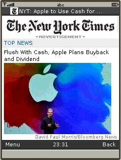 UC Browser 8.2 - New York Times Mobile