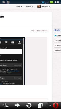 Pinterest - Side Scrolling Edit Screen (right side)