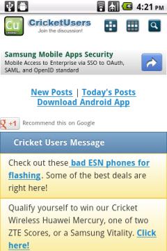 Cricket Users Forum