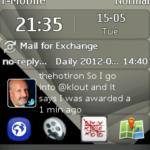 Asha 303 Home Screen With WebApp Icons