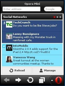 Opera Mini 7 Java Smart Page - Social Networks