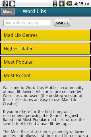 Word Libs Mobile