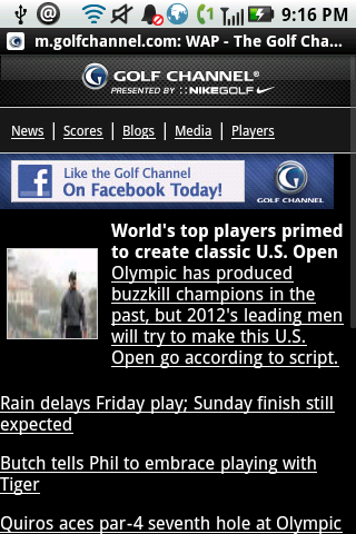 Golf Channel Mobile