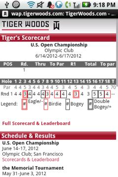 Tiger Woods Mobile