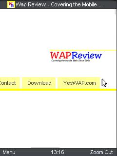 """UC Browser 8.4 Wap Review """"Zoom"""" view zoomed in"""
