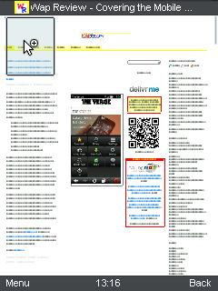 """UC Browser 8.4 Wap Review """"Zoom"""" view zoomed out"""