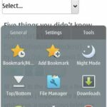 UC Browser 8.5 Symbian^3 Main Menu