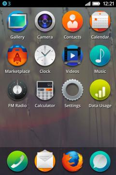 Firefox OS Icon Grid