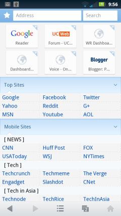 UC Web Mini 8.0 - Home Page