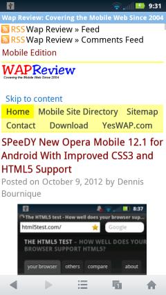 UC Browser Mini 8.0 - WapReview