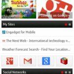 "Opera Minin 7.0.3 Symbian ""Smart Page"" Homescreen"