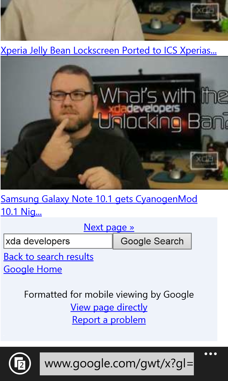 Page Adapted For IE10 Mobile By Google