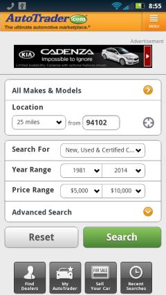AutoTrader Homepage