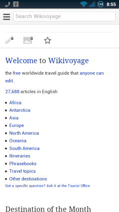 Wikivoyage Homepage